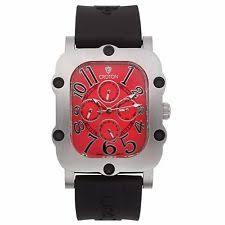 croton watch croton men s cn307529bsrd industrial stainless steel black resin watch