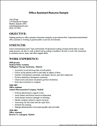 Resume For Office Assistant Magnificent Functional Resume For An Office Assistant Job Examples Post Sample