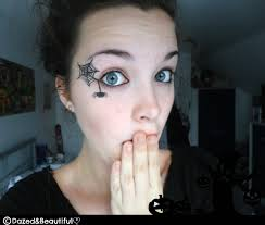 spiderweb eye makeup photo 1