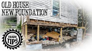 replace foundation under existing house. Delighful Foundation How To Jack Up A House And Build A Foundation Under An Existing Home   Trade Tips For Replace T