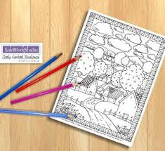 Bring out the creativity in your future logger, download the tigercat kid's colouring book & pages and colour in pictures of tigercat forestry equipment. Village Road Scene Coloring Page Printable Pdf Download Soloworkstudio
