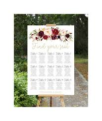 Etsy Wedding Seating Chart Wedding Seating Chart Sitzplan Hochzeit Wedding Seating Plan Printable Wedding Seating Chart Wedding Seating Plan Fall Wedding Table Chart