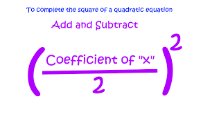 solve a quadratic equation by completing its square example 4