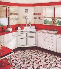 kitchen furniture white. 1937 Red \u0026 White Kitchen Furniture
