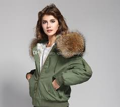 women s er jacket hooded with real rac furs collar rabbit furs lining classic flight suit uk usa
