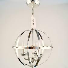 lalula chrome chandelier lighting industrial globe pendant lighting 3 light metal ceiling light fixture 17176