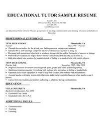 brilliant ideas of sample resume for tutoring position on resume
