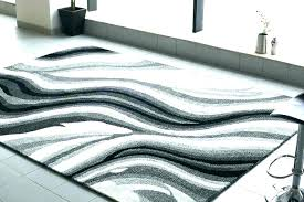 grey and white striped rug chevron 5x7 black outdoor indoor area