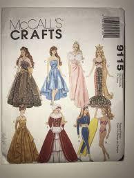 Barbie Doll Clothes Patterns Gorgeous McCalls 48 Barbie Doll Clothes Pattern Gowns Mermaid Costume Swim