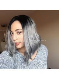 Lace Hair Style custom grey ombre bob hairstyle straight virgin hair full lace wig 2541 by wearticles.com
