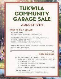 Tukwila Community Garage Sale City Of Tukwila