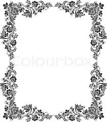 vintage black frame. Stock Vector Of \u0027Vector Black And White Vintage Floral Frame\u0027 Frame E