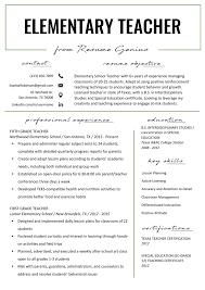 Writing Good Resume Examples Elementary Teacher Resume Samples Writing Guide How To Write