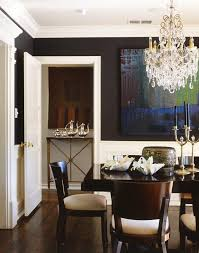 minimalist studio apartment dining room traditional with dark floor swarovski crystal chandeliers
