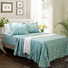 100 cotton sheets king. Delighful Sheets FADFAY Fashionable Teal Floral Bed Sheet Soft Set 100 Cotton Sheets King 4 For 100 Sheets R