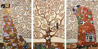 the tree of life stoclet frieze 1909 triptych