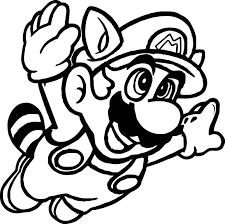 Super Mario Fly Coloring Page Wecoloringpagecom