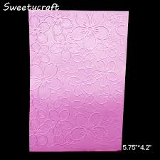 Stamps Template Us 1 21 14 Off Flower Blossom Textured Embossing Folder Scrapbooking Folders For Card Making Paper Craft Supplies Stamps Template New 2019 Diy In
