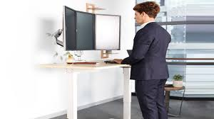 office desk standing. electric ergonomic standing office desk height adjustable