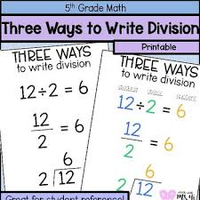 Three Ways To Write Division Anchor Chart By Math With Ms Yi