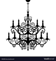 chandelier silhouette royalty free vector image within chandelier vector png