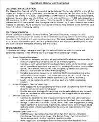 film operations director job description example service director job description