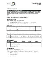 College Textbook Chapter Outline Template Baffling Sample Chapter