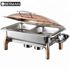 Latest Chafing Dishes Designs New Design Stainless Steel Rose Gold Hot Fried Chicken Food Display Warmers Chafing Dishes And Burners Buy Chafing Dishes And Burners Fried Chicken