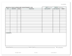 Car Service Record Template Service Log Book Template