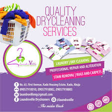high end dry cleaning for the upwardly mobile in abuja  we also offer pick up and delivery laundry for children under 5 48hrs service delivery