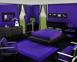 Purple High Gloss Bedroom Furniture Bedroom Elegant Purple With Tv On Wall And Recessed Lighting For