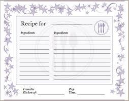 Recipe Template For Word Free Recipe Templates For Word Rome Fontanacountryinn Com