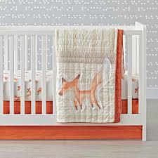 fox crib bedding  the land of nod