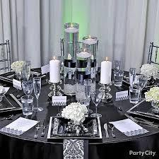 elegant black and white wedding black and silver table decoration ideas interior www getcomfee com