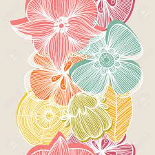 Cute Floral Seamless Pattern In Vintage ...