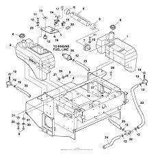Bunton bobcat ryan 942203 zt 200 19hp kaw w52 side discharge diagram fuel tanks control panel