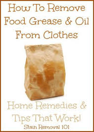 how to remove grease from clothes home