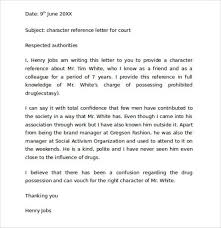 Character Reference Letter Template For Court Efficient Family 9