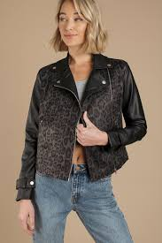leather jackets black multi the wild side jacket