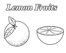 Lemons Fruit Coloring Pages To Kids Learn To Coloring