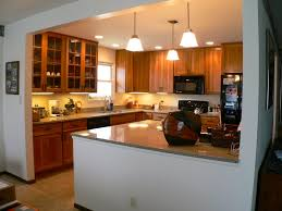 remodeled kitchen from dining area