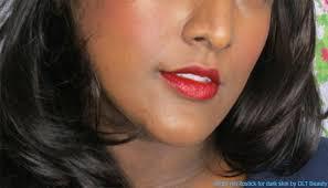 bright red lipstick for dark skin 10