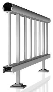 Baranda De Escalera En Aluminio Y Vidrio Para Balcones SAN BENIGNO Barandillas De Aluminio Para Exterior