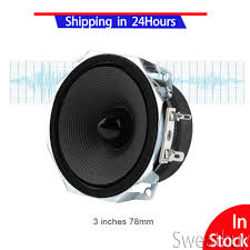 stereo audio loudspeaker 2pcs 3 inches full range speakers high sensitivity 8Ω super deep bass diy