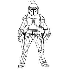 Easy Boba Fett Star Wars Coloring Pages Action Coloring Pages