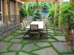 flagstone patio with grass. Flagstone Patio Border With Grass E