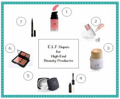 s name list the best elf dupes for expensive high end and name brand makeup face