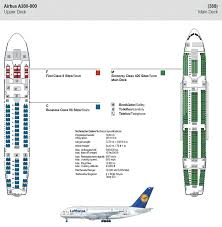 Air France A380 800 Seat Chart Lufthansa Airlines Airbus A380 800 Airline Seating Map