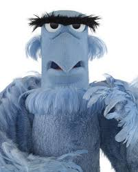 Image result for big grey bird muppet