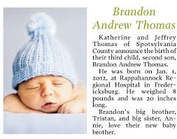 Birth Announcement In Newspaper Birth Announcement Newspaper Template Koziy Thelinebreaker Co